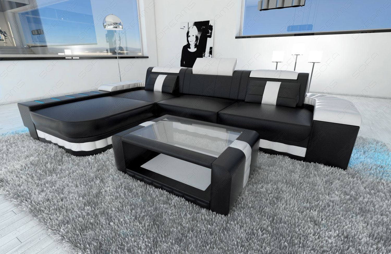 modernes sofa bellagio in l form als perfektes ecksofa. Black Bedroom Furniture Sets. Home Design Ideas