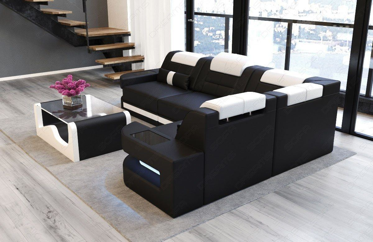 ledercouch schwarz weiss excellent couch schwarz weiss affordable sofa with couchtisch glas big. Black Bedroom Furniture Sets. Home Design Ideas