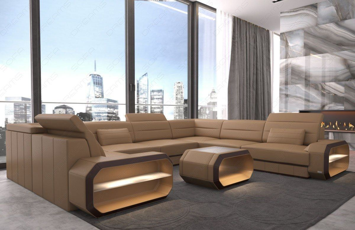 leder wohnlandschaft verona ledersofas u form ledersofas sofas und couches. Black Bedroom Furniture Sets. Home Design Ideas