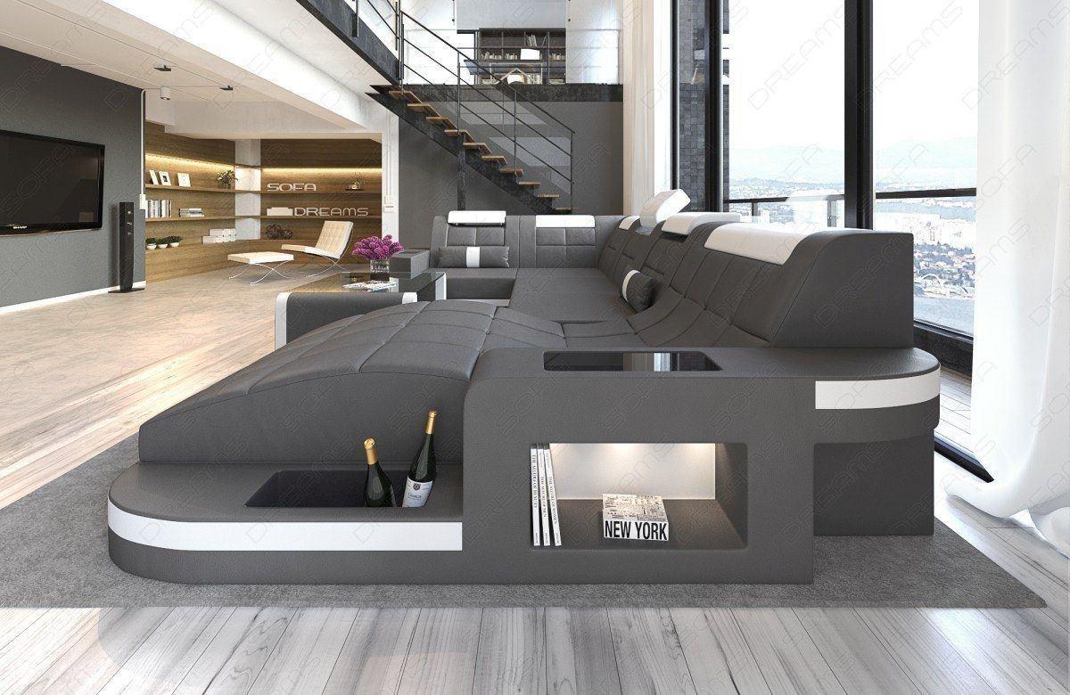 Sofa Wave In Der U Form Relax Wohnlandschaft Mit Ottomane