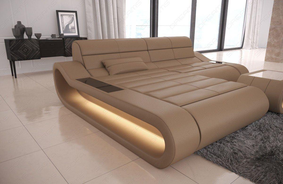 Uberlegen Couch Concept Leder L Form Klein Sandbeige