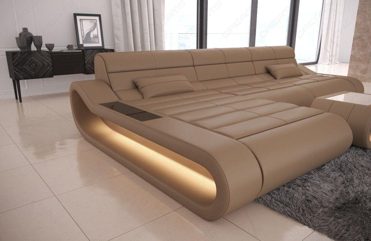 sofa concept in l form ledersofa mit beleuchtung und. Black Bedroom Furniture Sets. Home Design Ideas