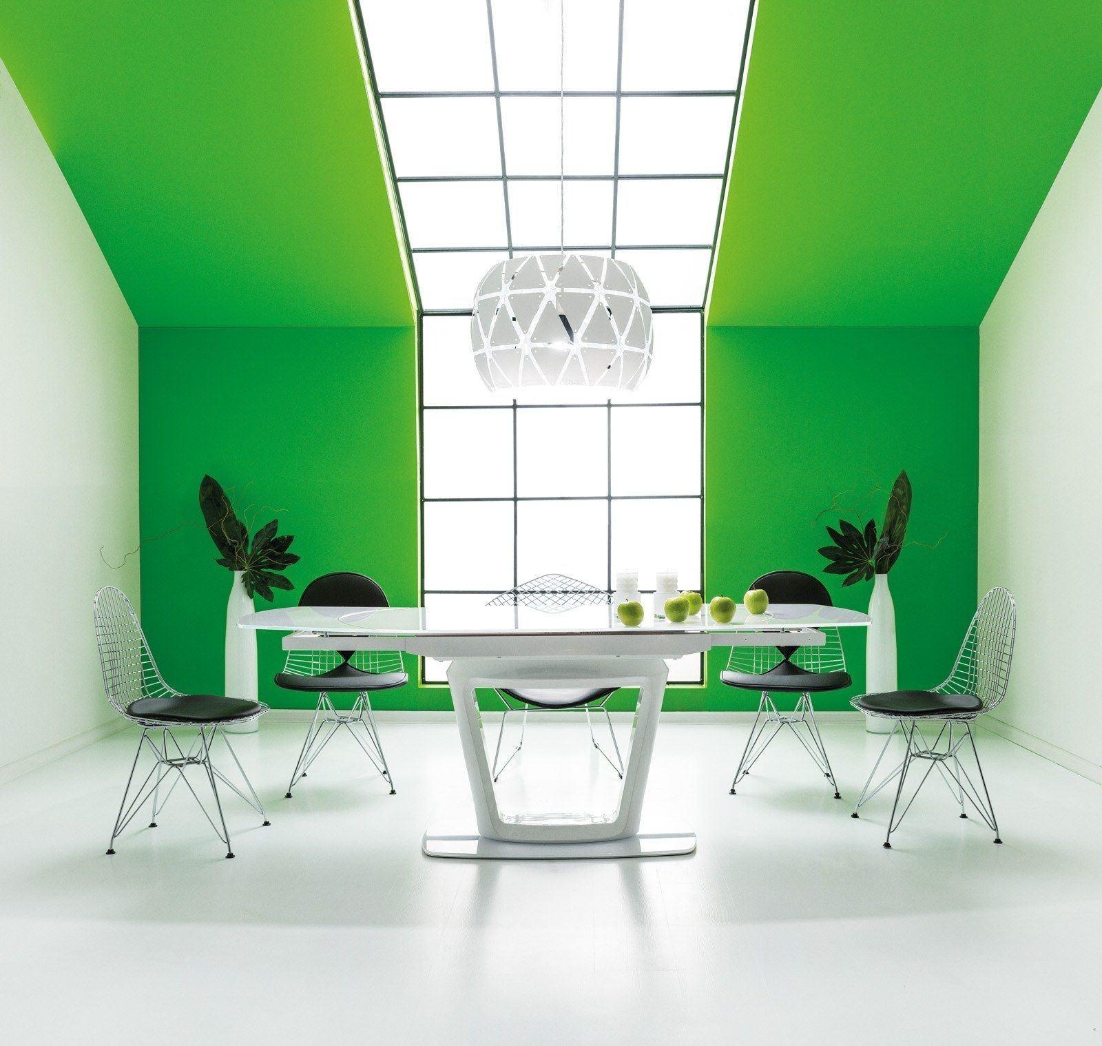 esstisch claudio milchglasplatte esstische esszimmer. Black Bedroom Furniture Sets. Home Design Ideas