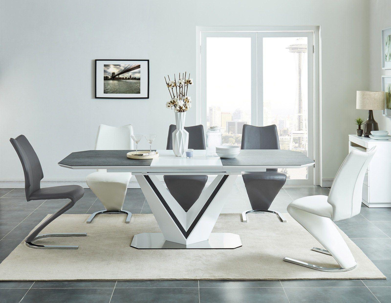 esstisch valerio keramik schwarz weiss esstische esszimmer. Black Bedroom Furniture Sets. Home Design Ideas