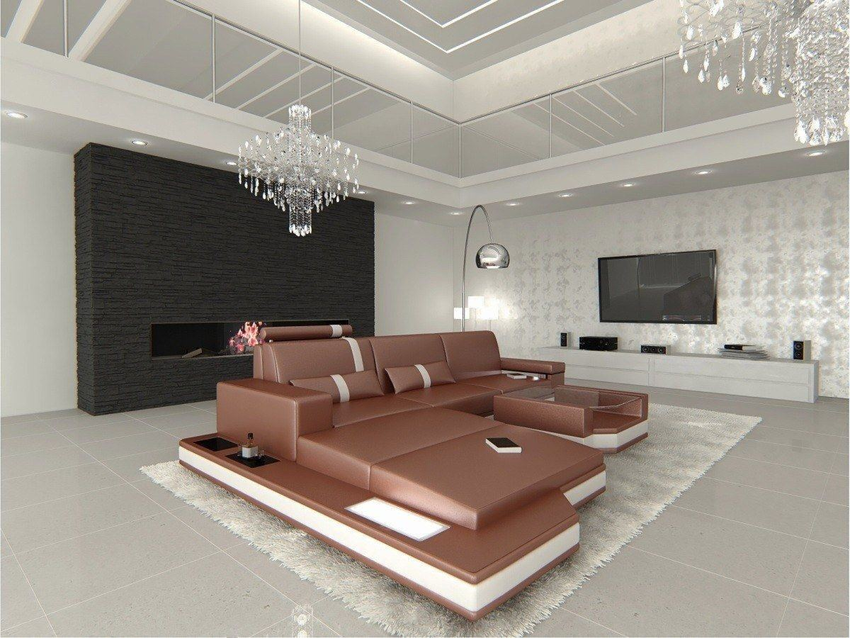 ecksofa messana ledersofa sofas und couches. Black Bedroom Furniture Sets. Home Design Ideas