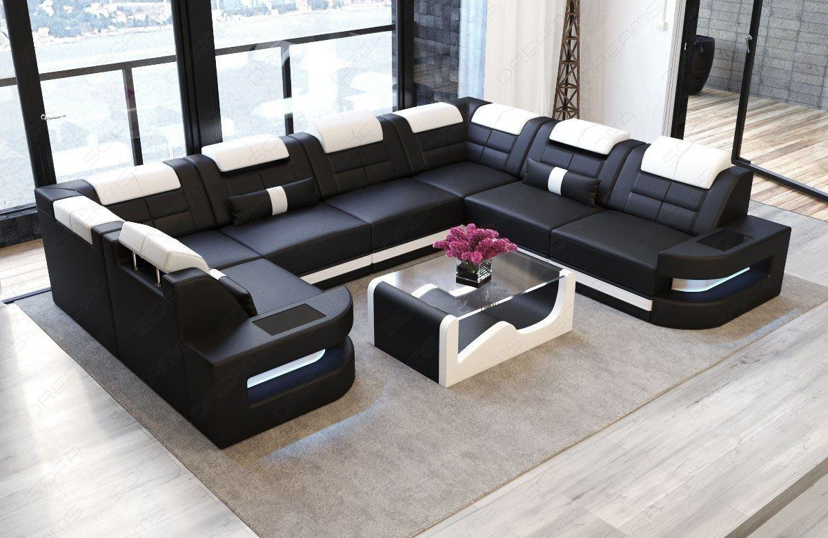 leder wohnlandschaft como sofas und couches. Black Bedroom Furniture Sets. Home Design Ideas