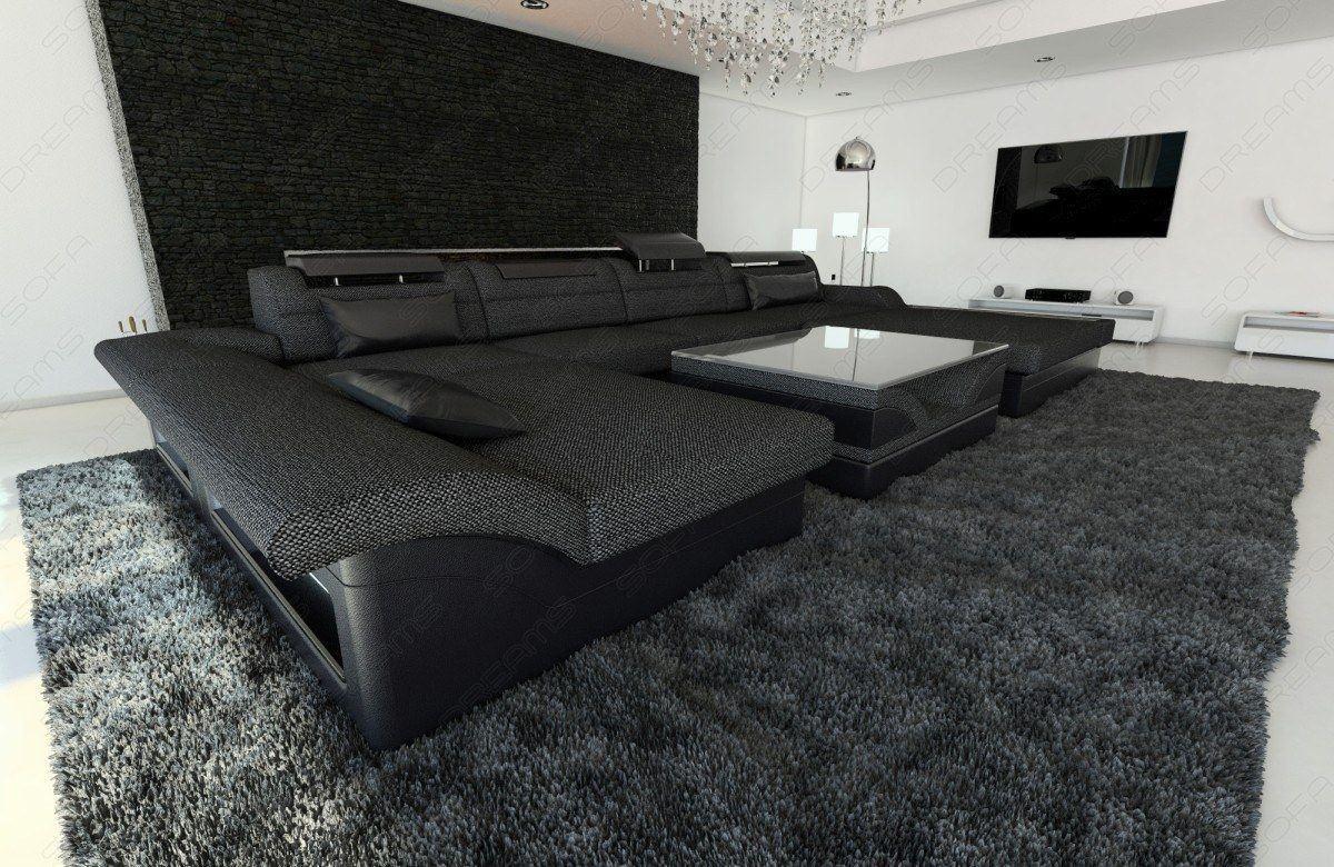 Stoff wohnlandschaft monza sofas und couches for Wohnlandschaft leder l form