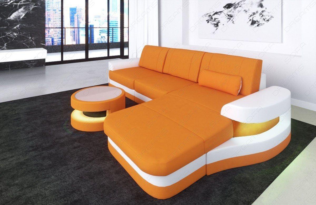 Stoffsofa modena l form sofas und couches - Pulire divano pelle macchiato ...