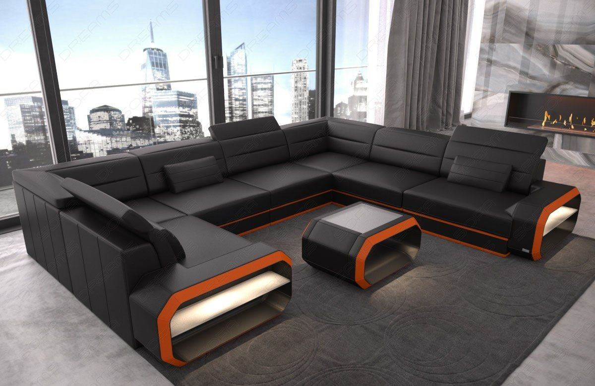 leder wohnlandschaft verona ledersofas u form. Black Bedroom Furniture Sets. Home Design Ideas