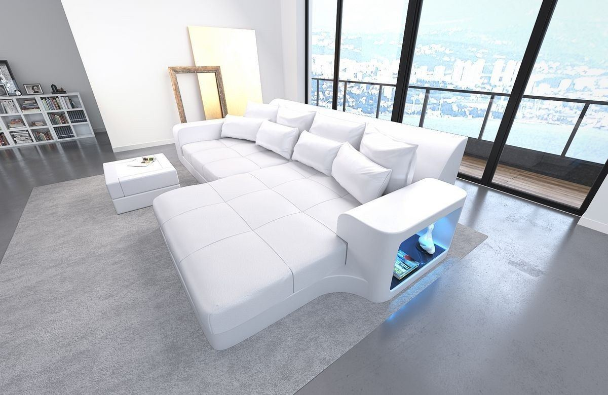 leder bigsofa milano weiss weiss. Black Bedroom Furniture Sets. Home Design Ideas