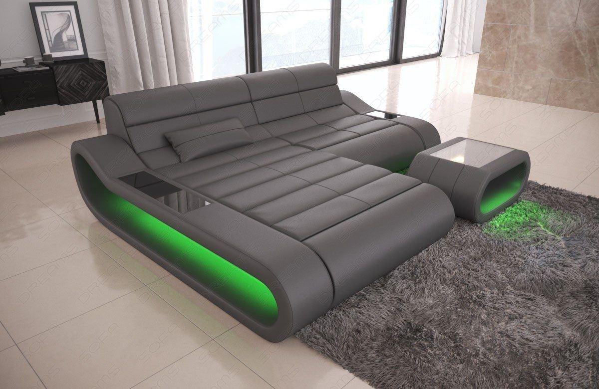 Couch concept in leder als l form klein und der farbe grau - Sofa l form grau ...
