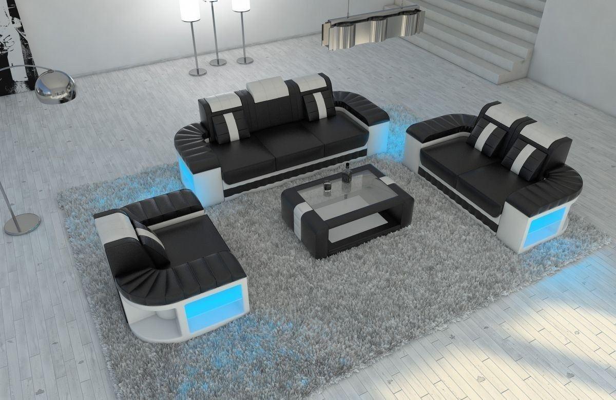 sofa garnitur 3 2 1 bellagio in leder und den farben. Black Bedroom Furniture Sets. Home Design Ideas