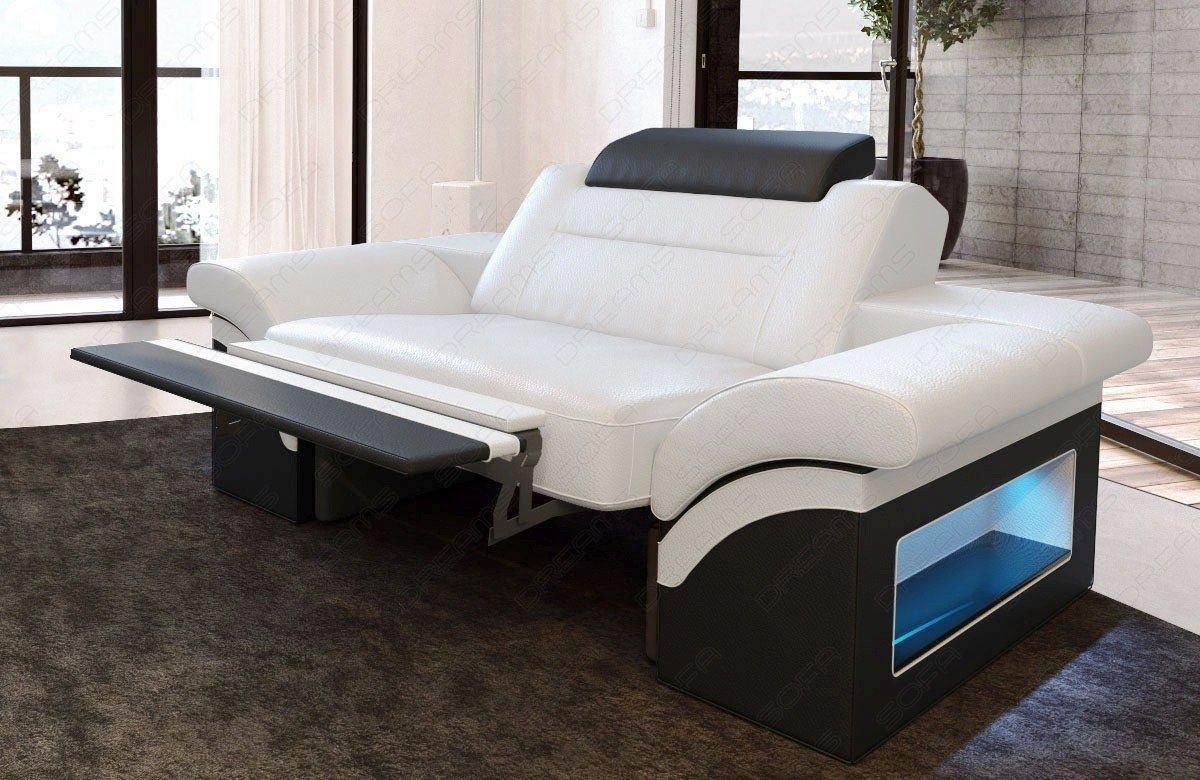 leder sessel monza weiss schwarz. Black Bedroom Furniture Sets. Home Design Ideas