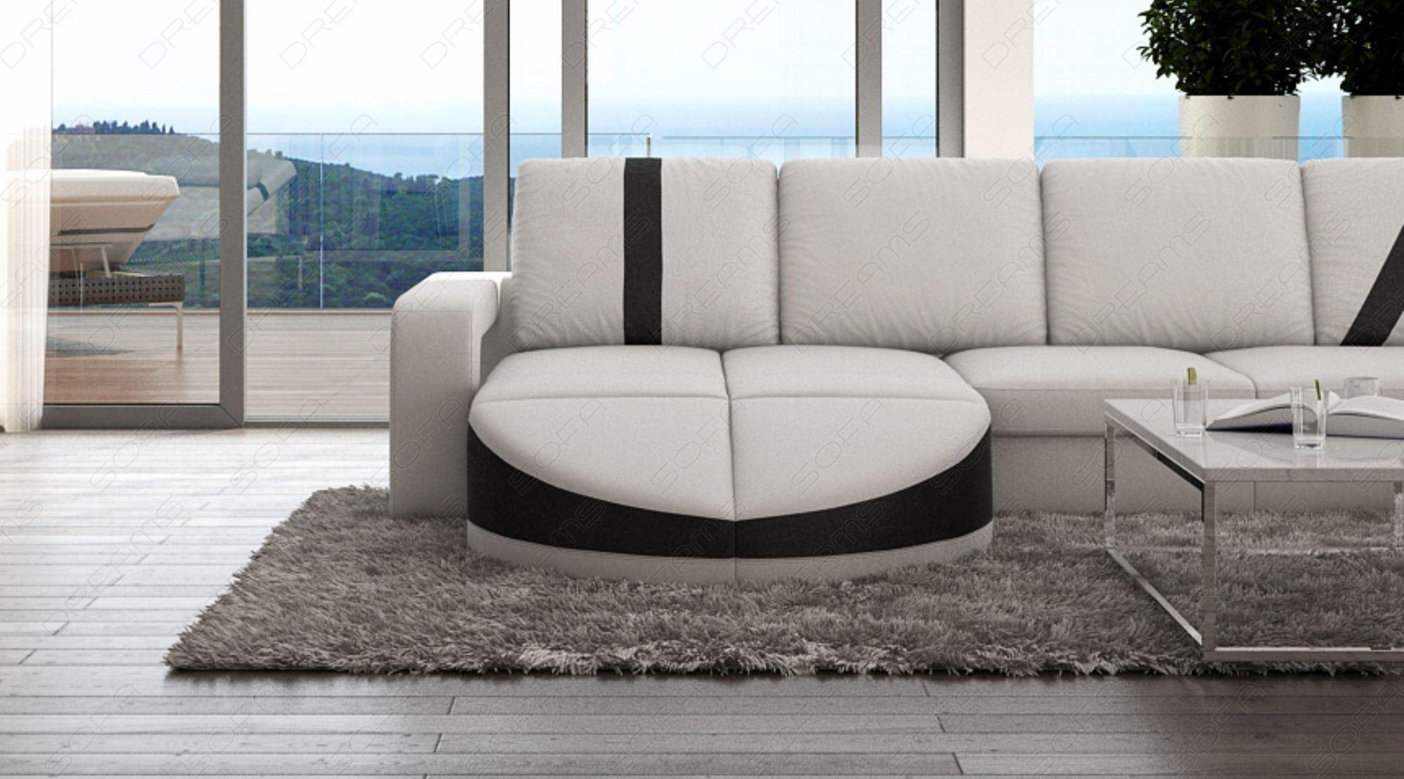 Mega Wohnlandschaft Florenz in U Form - Sofa in Leder und ...
