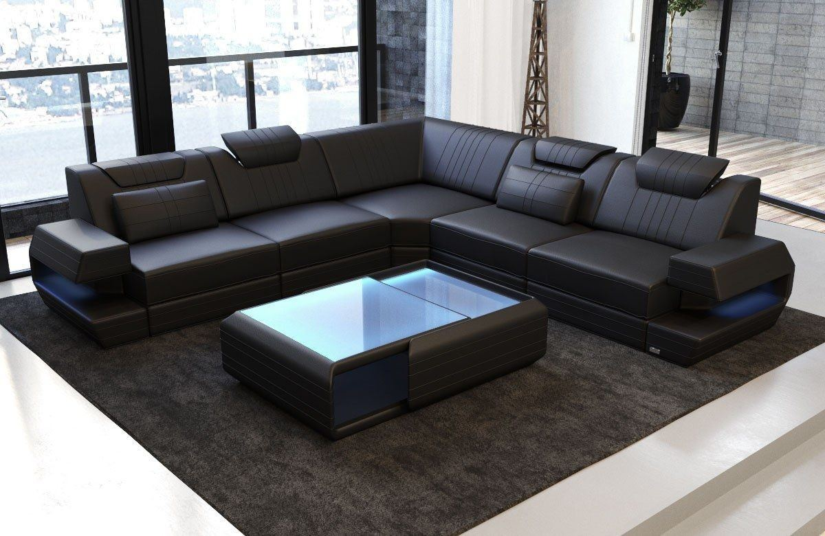 couch ragusa in der l form als modernes ecksofa in leder. Black Bedroom Furniture Sets. Home Design Ideas