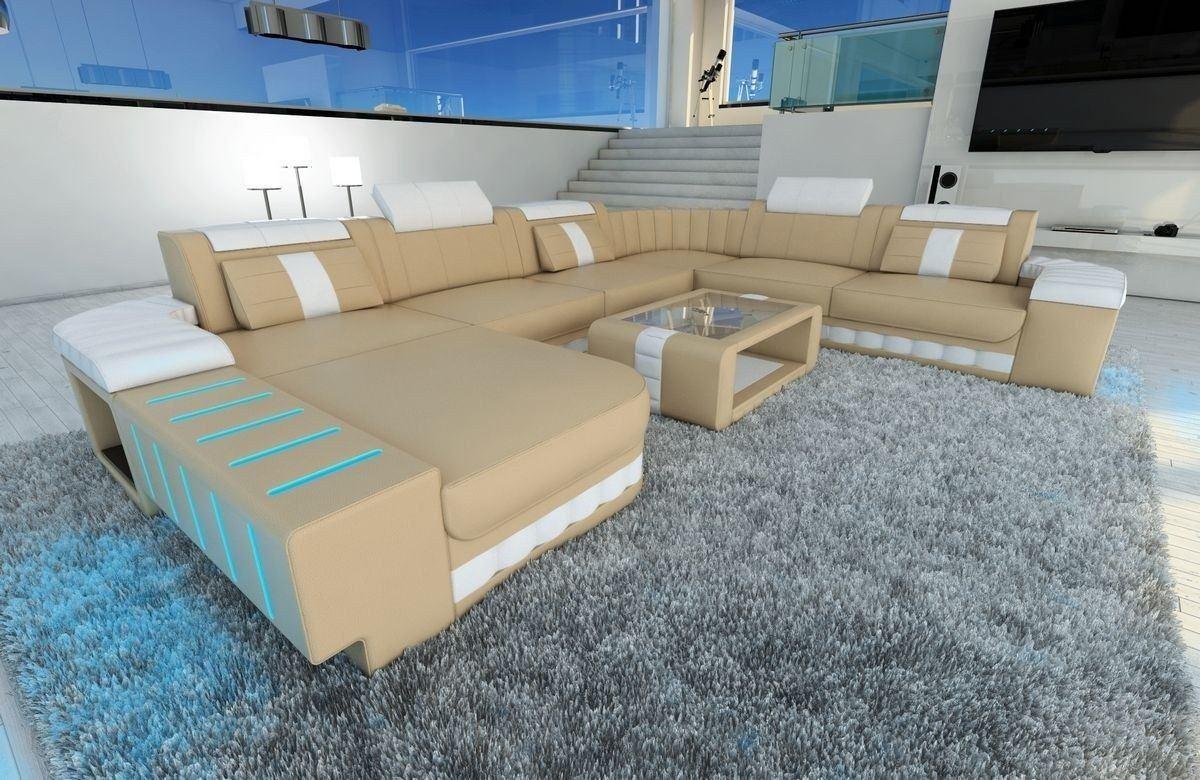 xxl wohnlandschaft bellagio sandbeige weiss. Black Bedroom Furniture Sets. Home Design Ideas