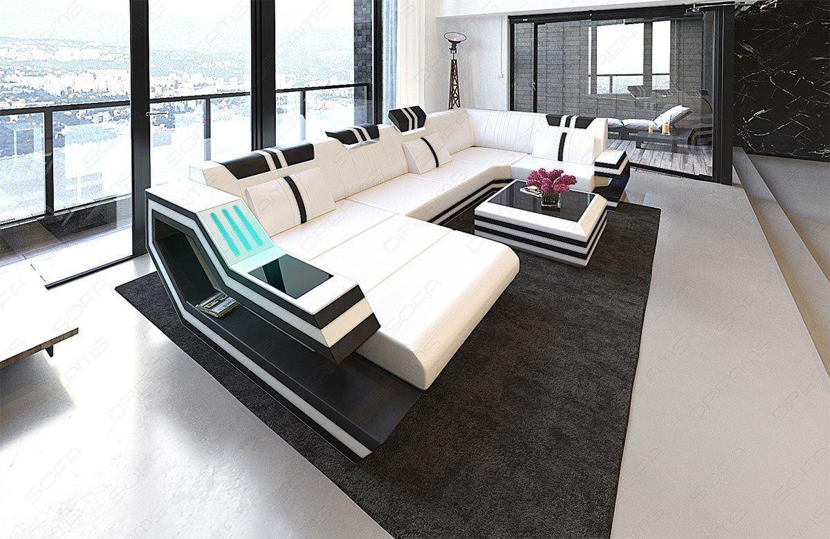 wohnlandschaft ravenna in der u form ein modernes ledersofa. Black Bedroom Furniture Sets. Home Design Ideas