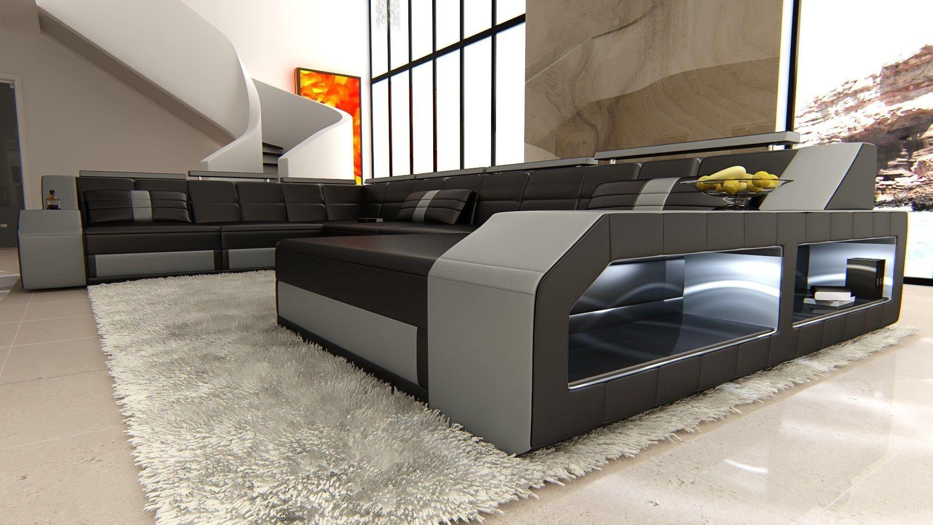 xxl wohnlandschaft matera xxl grau schwarz. Black Bedroom Furniture Sets. Home Design Ideas