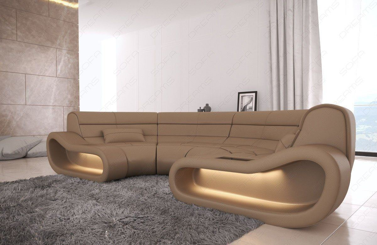 big sofa concept in leder und der farbe sandbeige. Black Bedroom Furniture Sets. Home Design Ideas