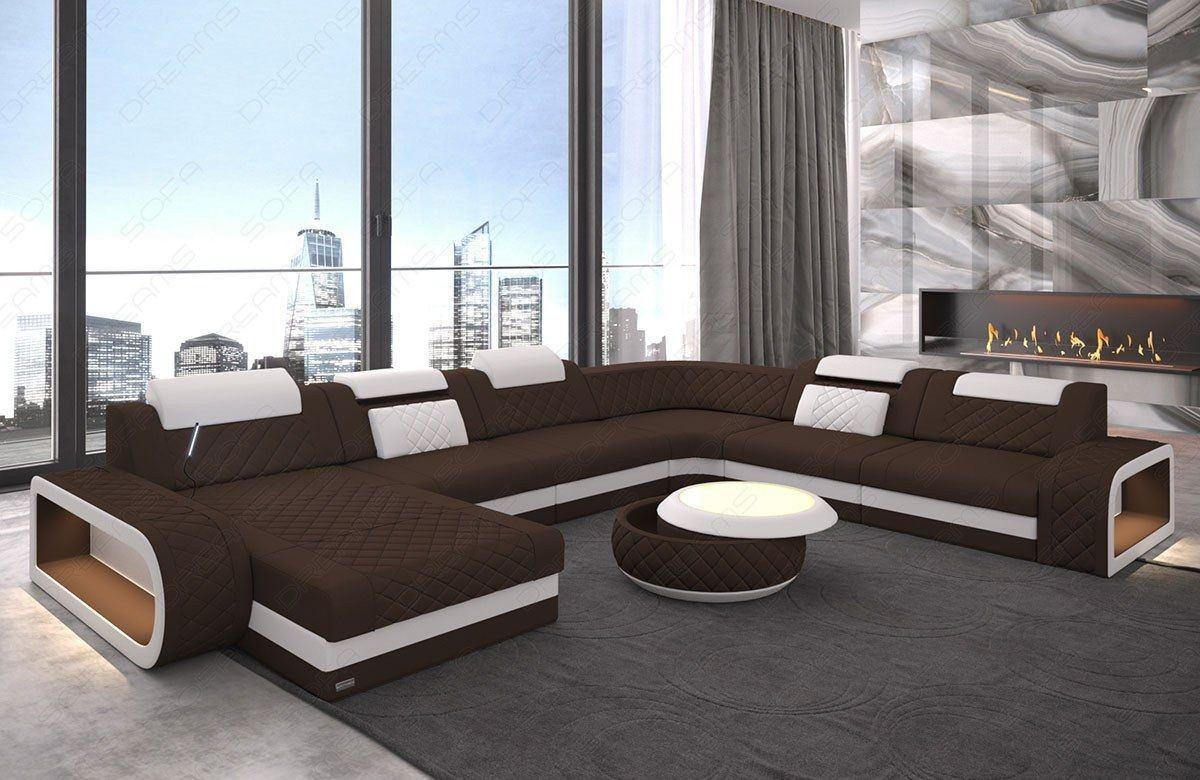 wohnlandschaft berlin xxl in mikrofaser oder einem. Black Bedroom Furniture Sets. Home Design Ideas