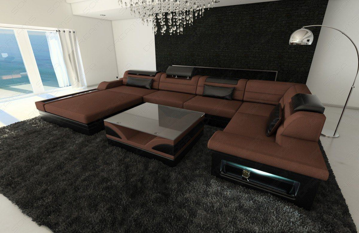 Luxus Wohnlandschaft Mezzo Als U Form In Stoff Designersofa
