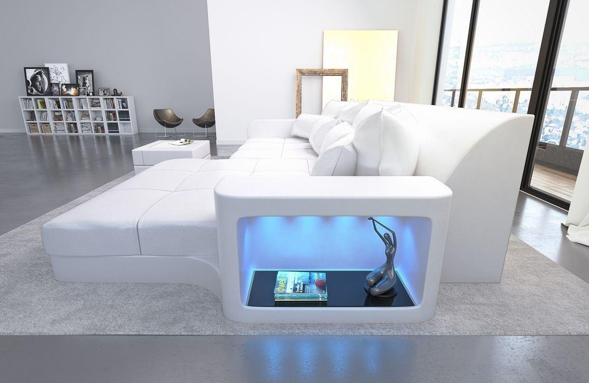 leder bigsofa milano weiss weiss. Black Bedroom Furniture Sets. Home Design Ideas