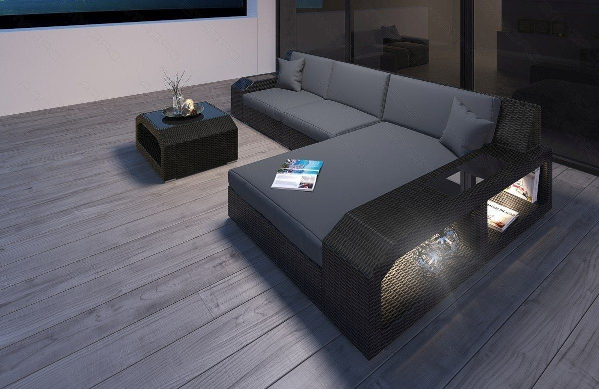 rattan sofa matera l form moderne garten loungesofas. Black Bedroom Furniture Sets. Home Design Ideas