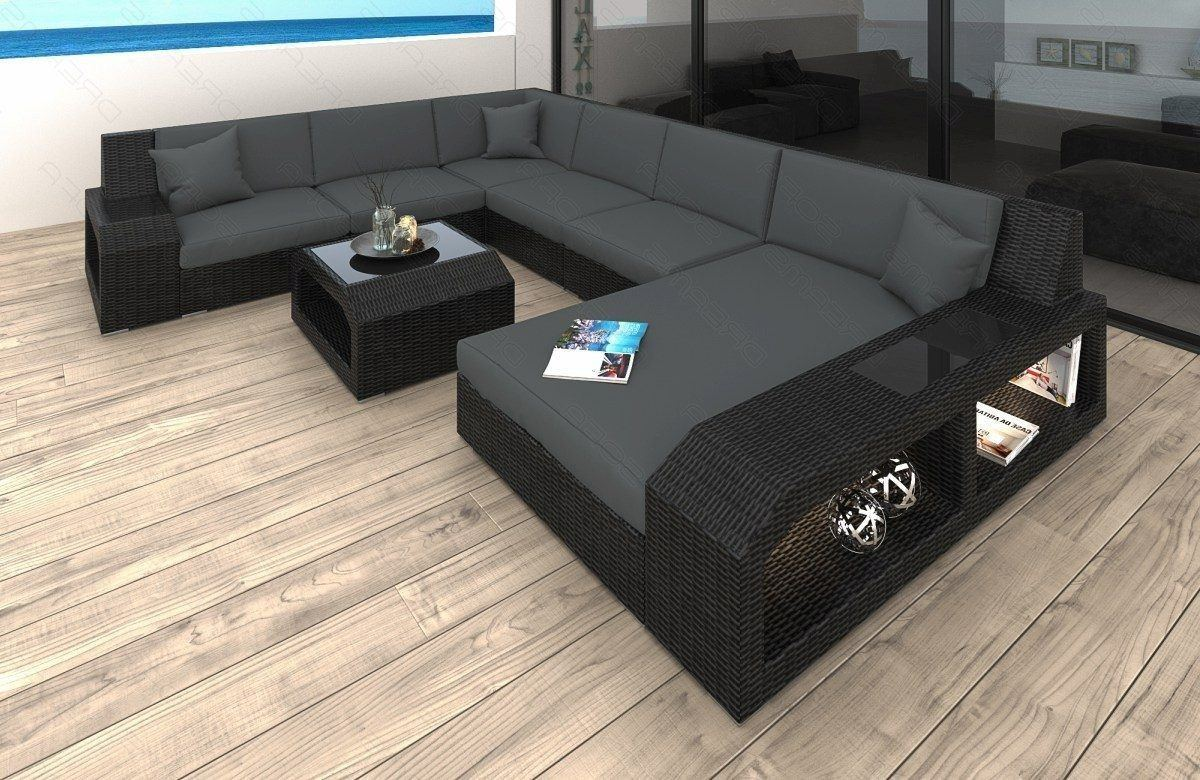 rattan sofa matera u mit led belleuchtung rattan gartenm bel. Black Bedroom Furniture Sets. Home Design Ideas