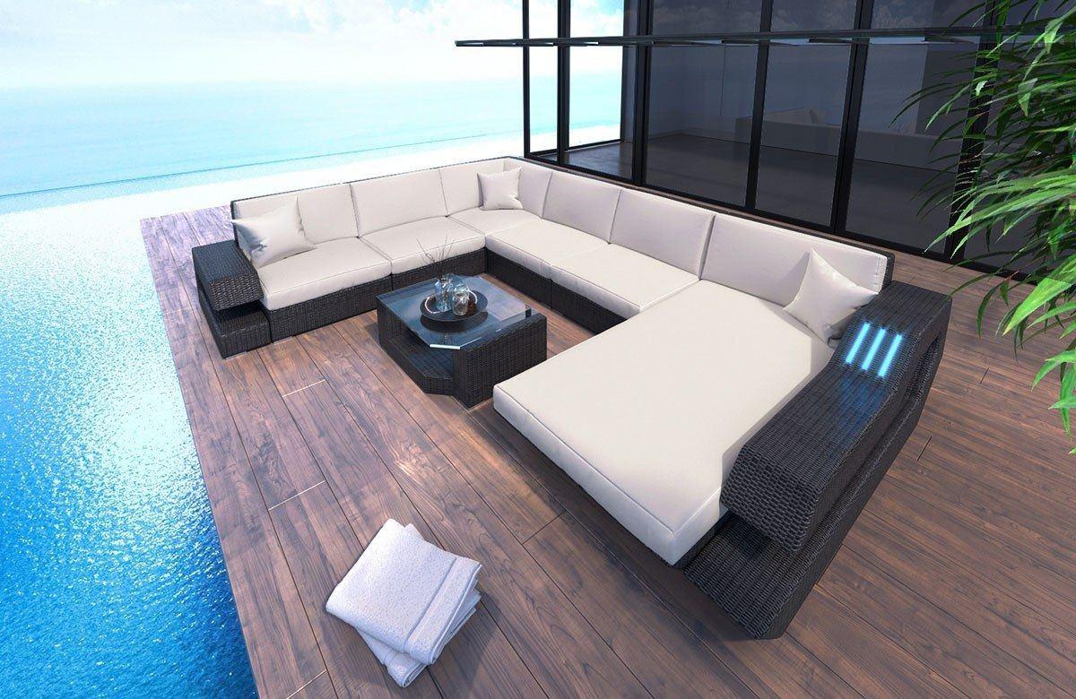 Rattan Sofa Lounge Ravenna U Form