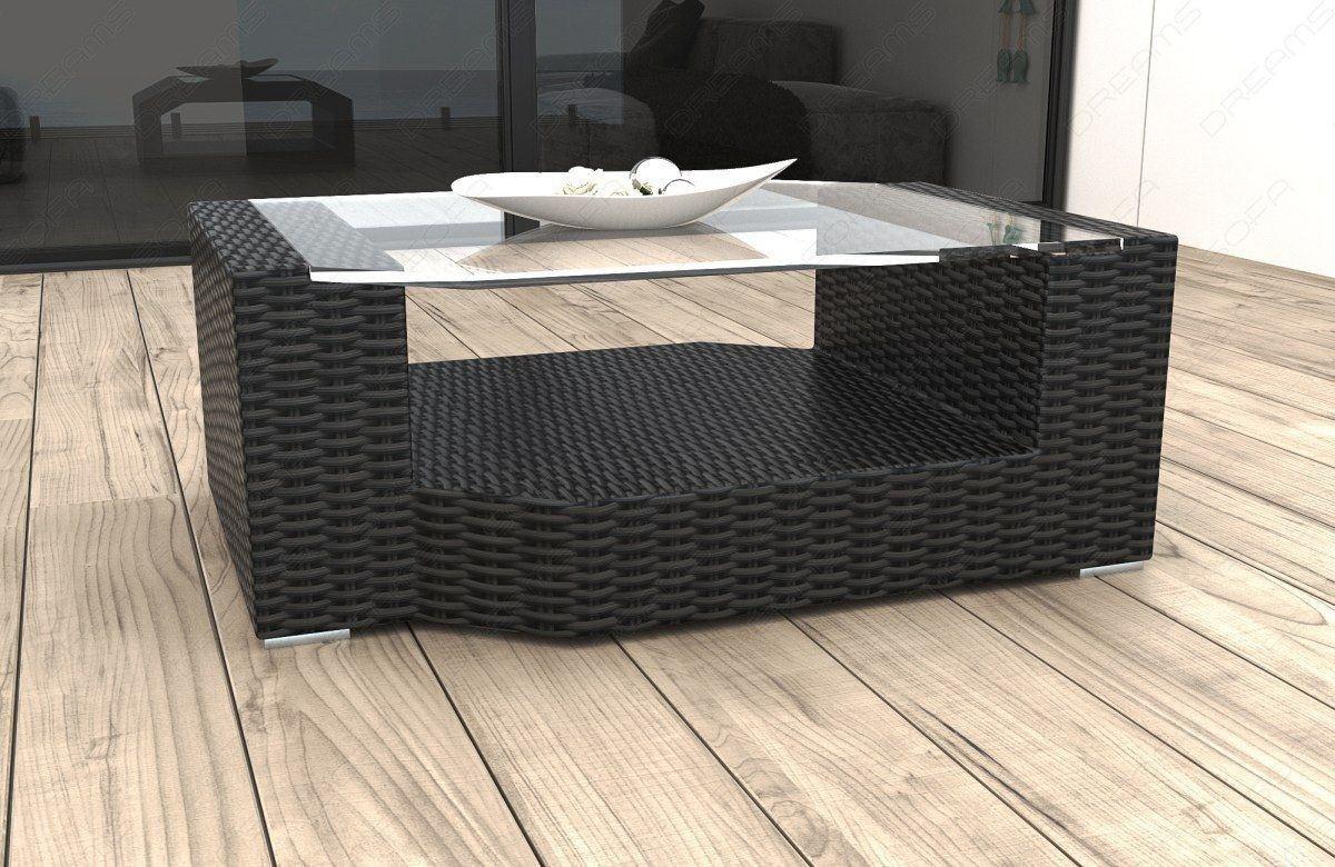 rattan tisch messana mit glasplatte garten loungem bel kaufen. Black Bedroom Furniture Sets. Home Design Ideas