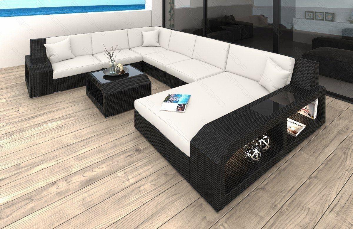 rattan sofa matera als u form wohnlandschaft garten loungesets. Black Bedroom Furniture Sets. Home Design Ideas