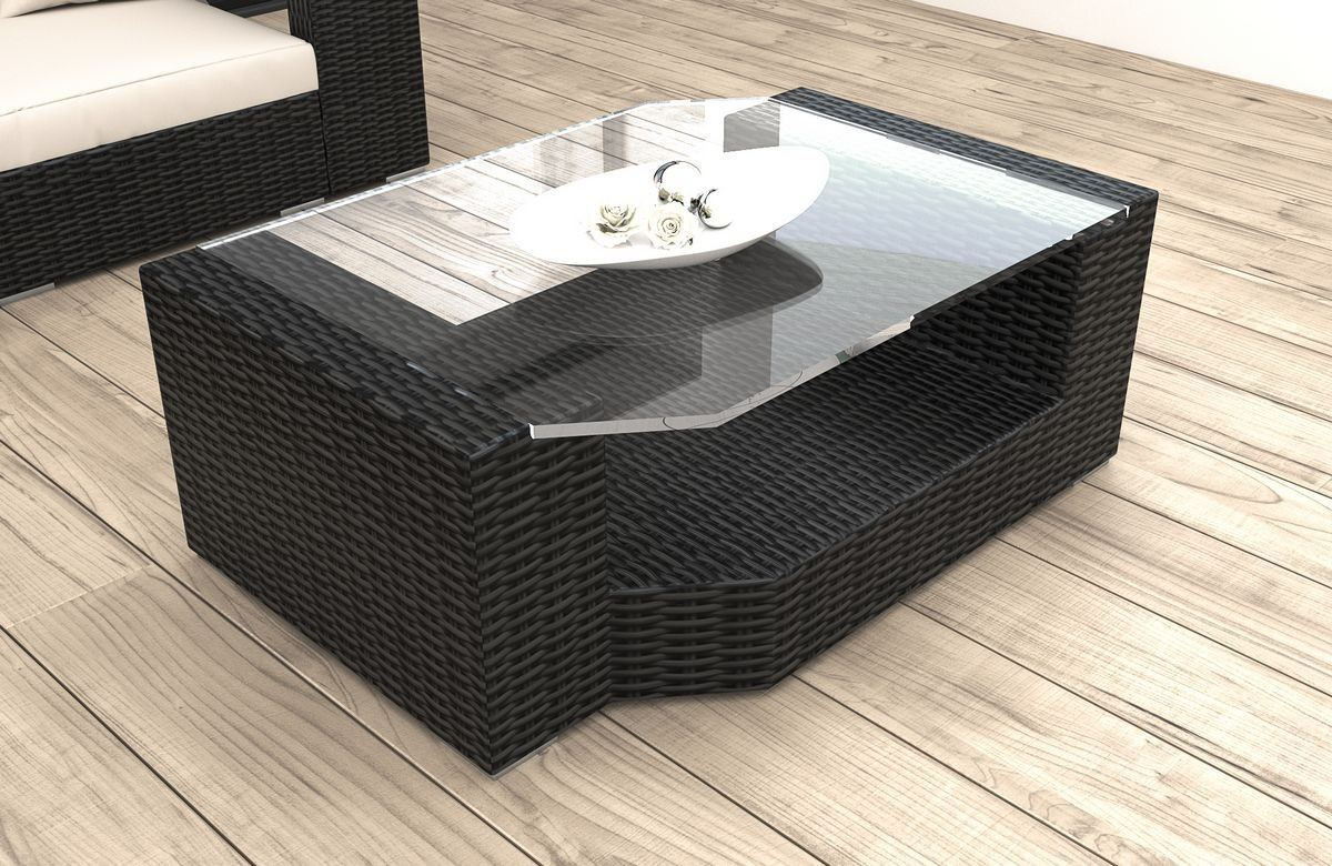 Rattan Tisch Messana für Balkon und Garten - Rattan Gartenmöbel