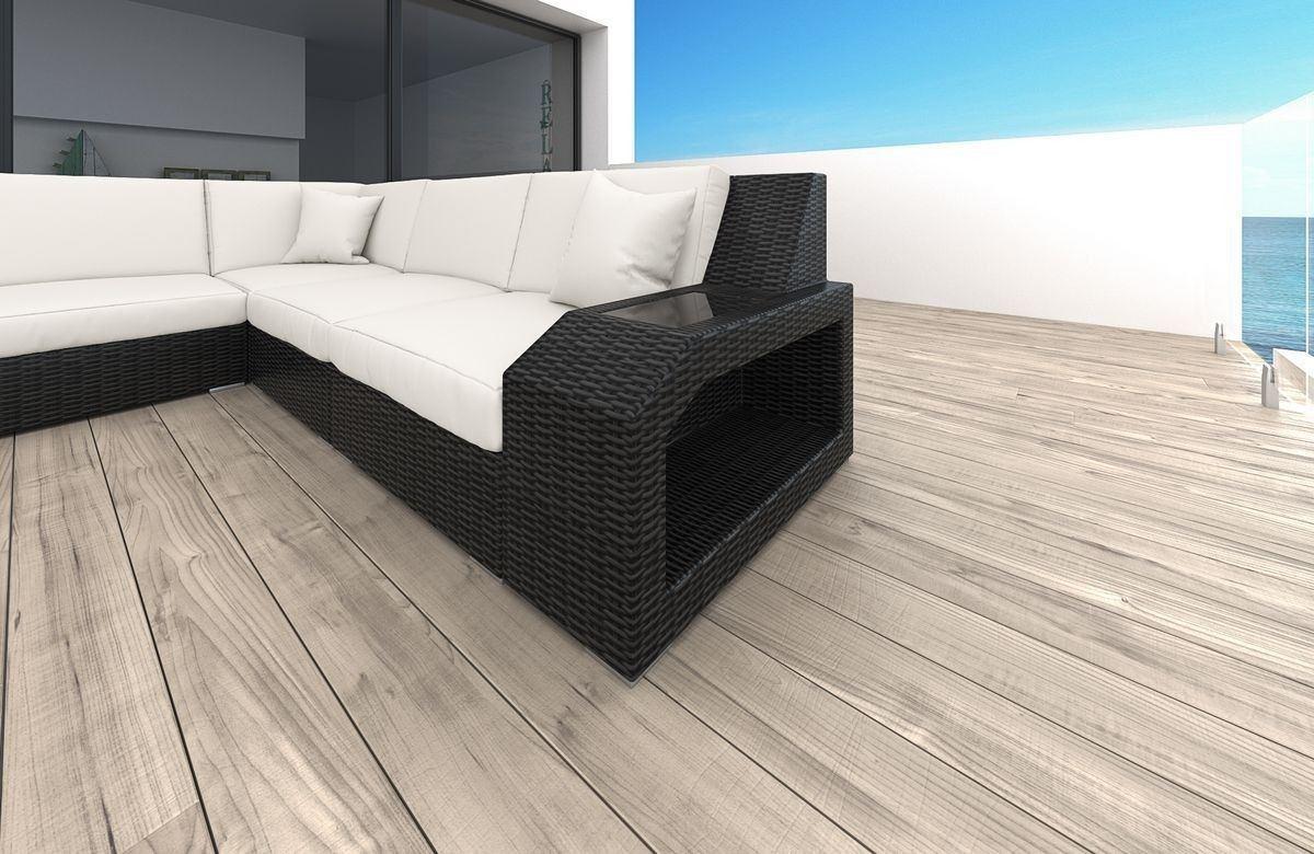 rattan sofa matera u mit led belleuchtung rattan gartenm bel. Black Bedroom Furniture Sets. Home Design Ideas