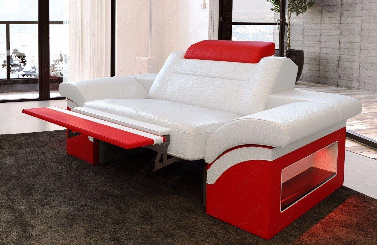 leder sessel monza weiss rot. Black Bedroom Furniture Sets. Home Design Ideas