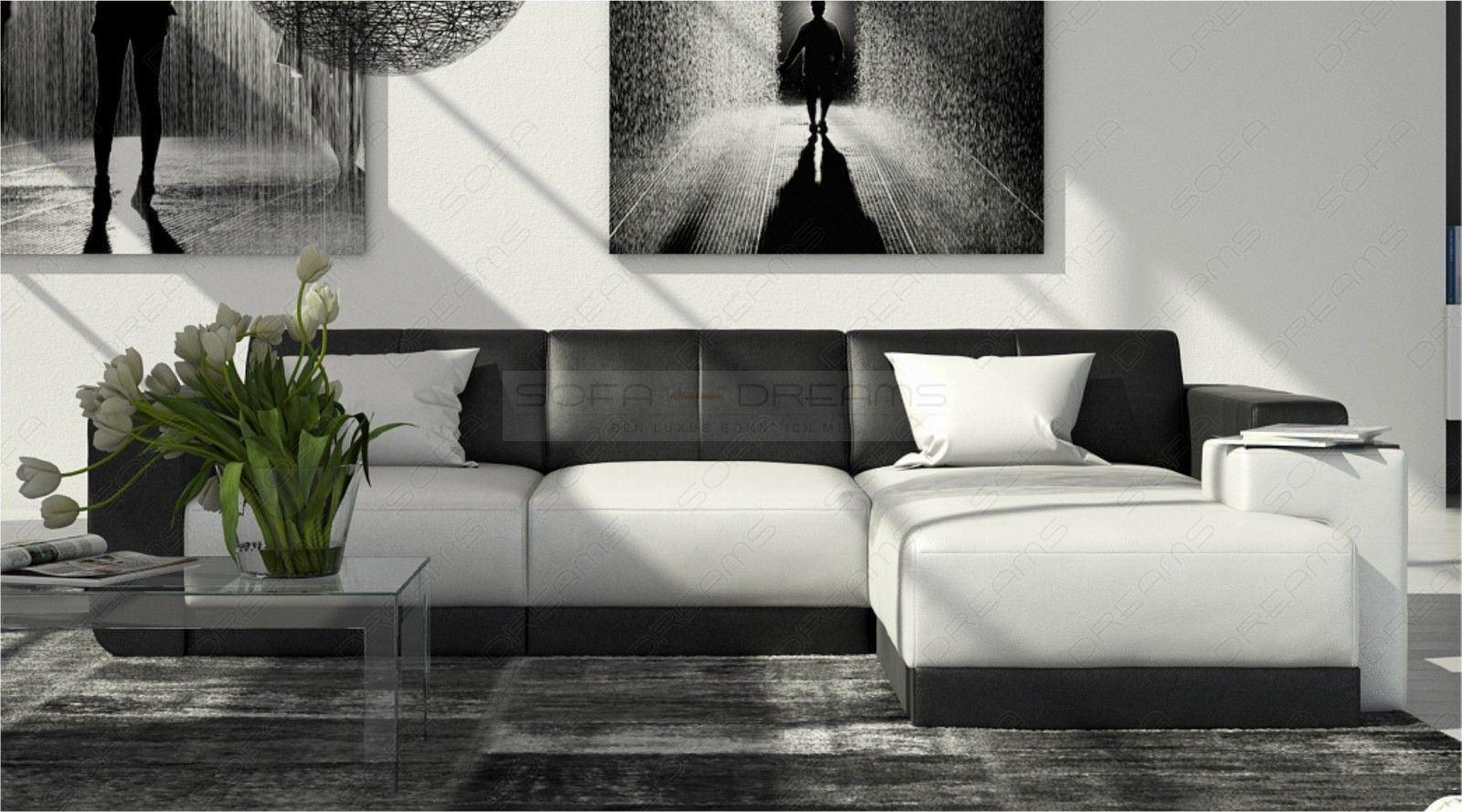 bequemes ledersofa ferragamo als l form mit ottomane. Black Bedroom Furniture Sets. Home Design Ideas