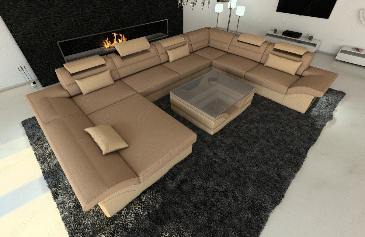 Moderne Wohnlandschaft Enzo Als Xxl Couch In Stoff Und Recamiere