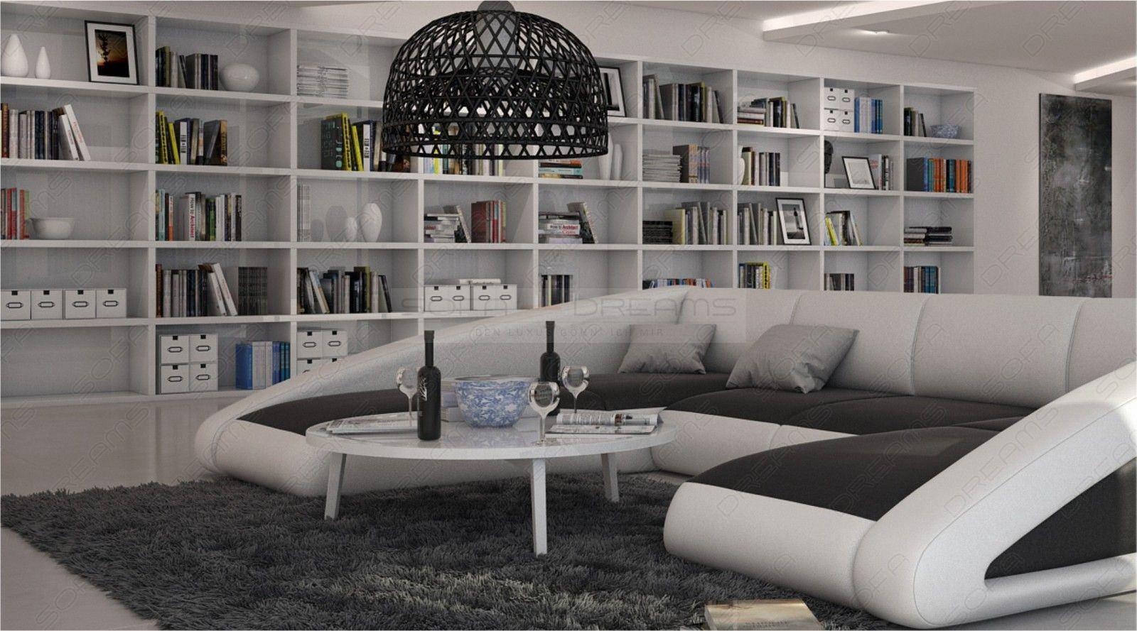 traumhafte leder wohnlandschaft nassau mit led beleuchtung. Black Bedroom Furniture Sets. Home Design Ideas