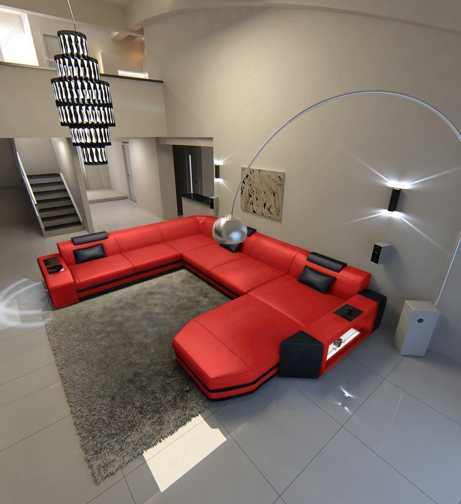 xxl wohnlandschaft prato leder sofas und couches. Black Bedroom Furniture Sets. Home Design Ideas