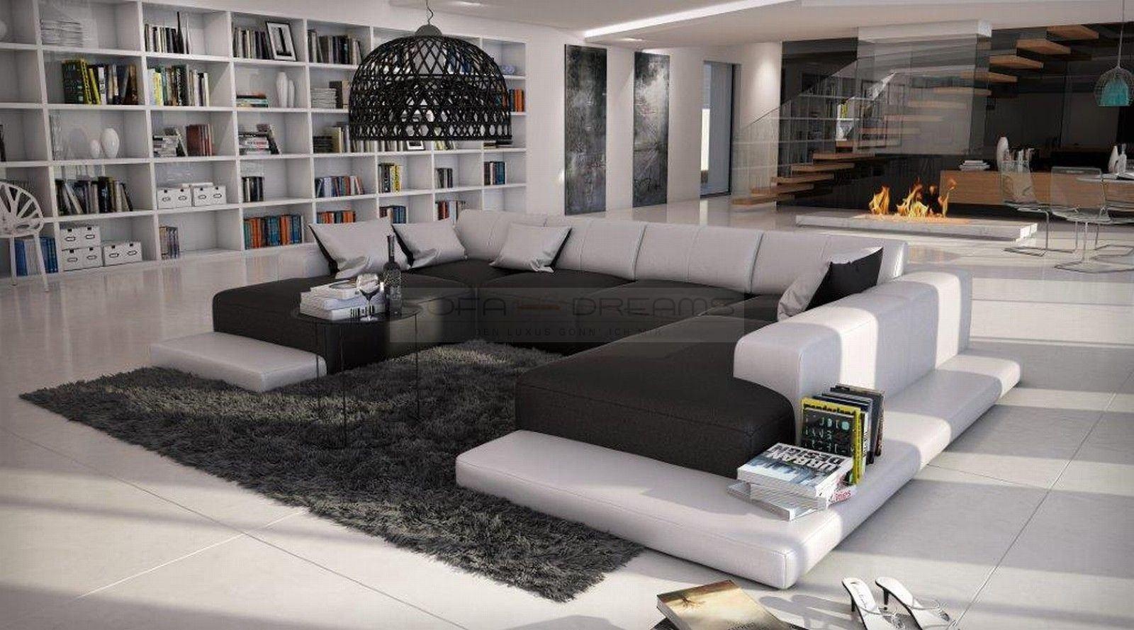 Gunstige Wohnlandschaft Sallini In U Form Modernes Designersofa