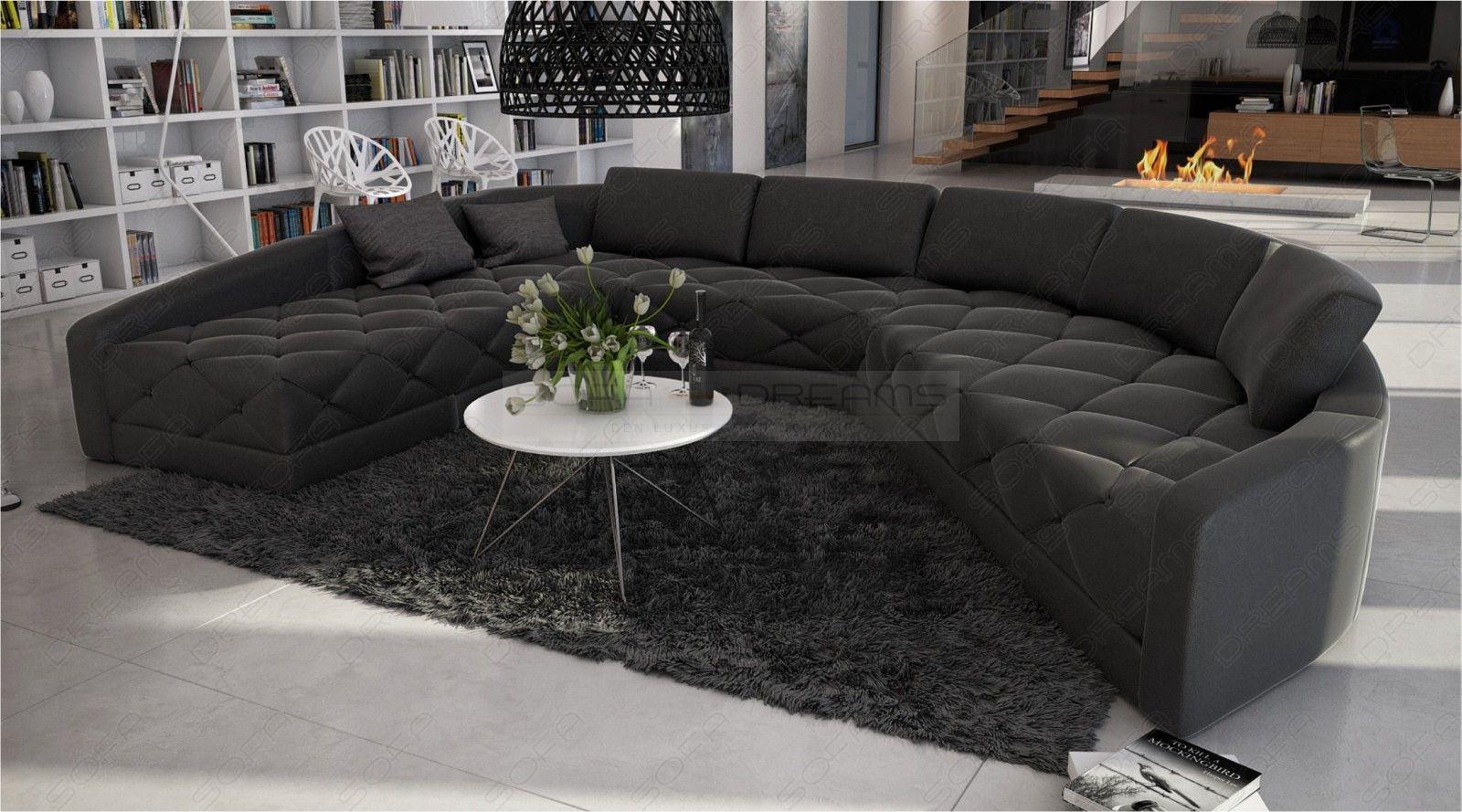 Bequeme Sofa Wohnlandschaft Secreto In Leder Als U Form