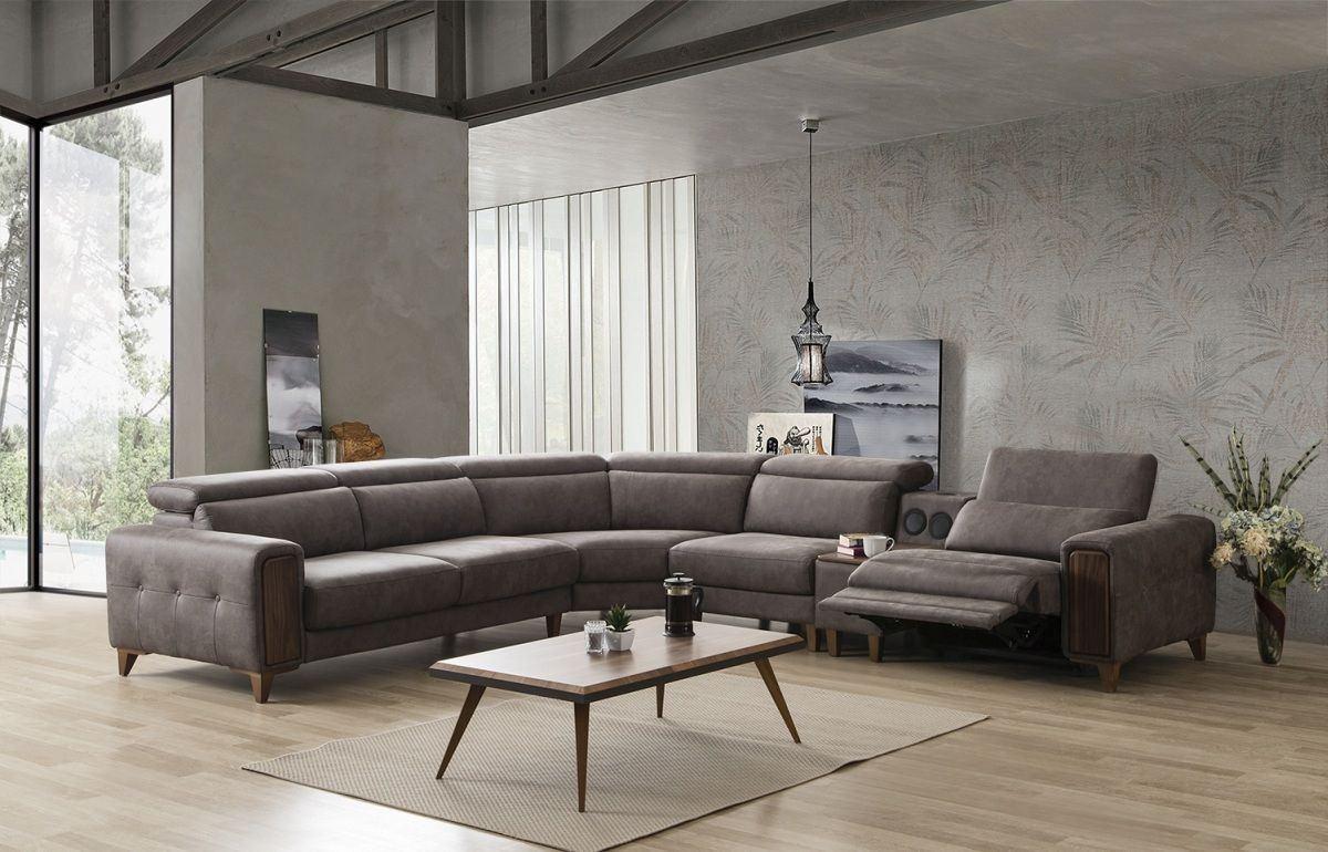 design ecksofa g ttingen in stoff mit optionaler musikanlage. Black Bedroom Furniture Sets. Home Design Ideas
