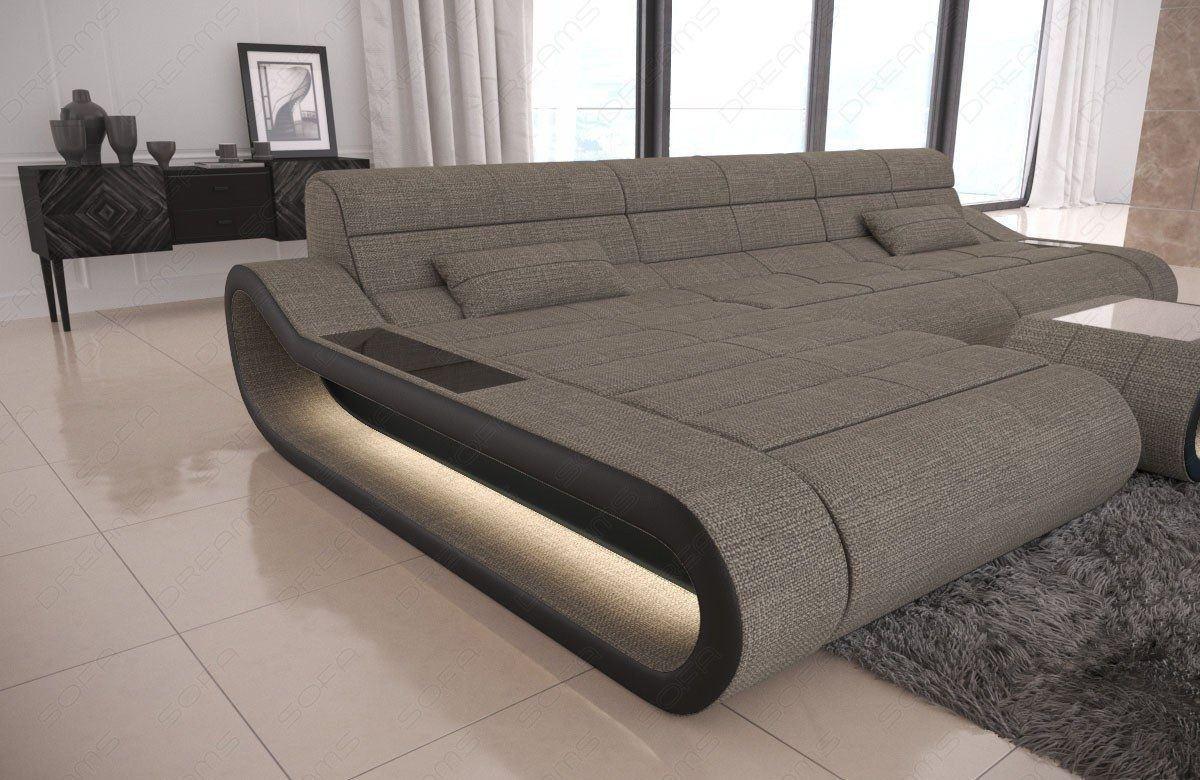 Ecksofa Concept In L Form Lang Sofa Mit Stoffbezug