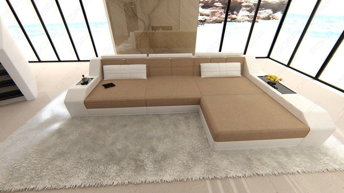 Couch Arezzo In L Form Als Stoffsofa Mit Bettfunktion Ecksofa