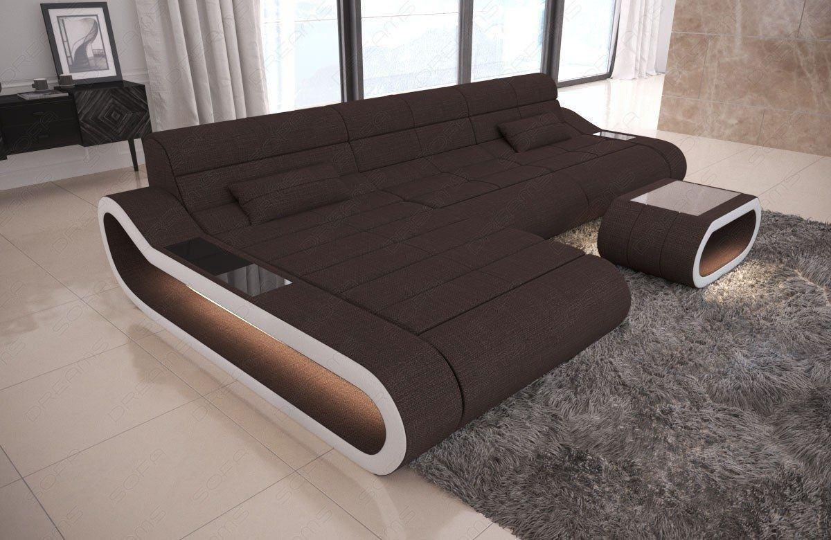 ecksofa concept in l form lang sofa mit stoffbezug. Black Bedroom Furniture Sets. Home Design Ideas