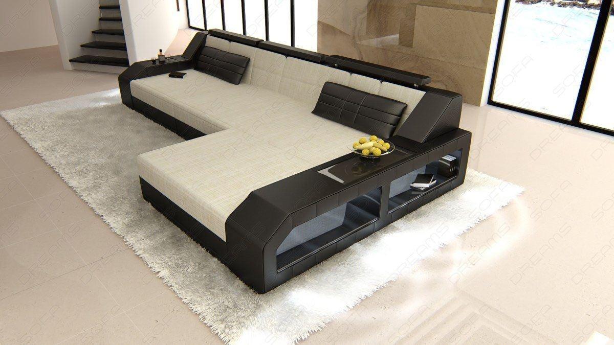 Herlig Couch Arezzo in L Form als Stoffsofa mit Bettfunktion – Ecksofa QU-79