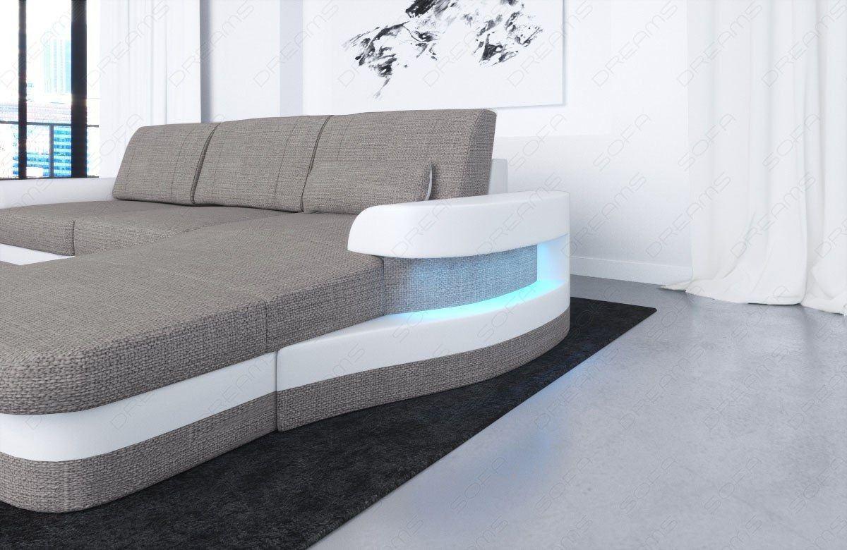 couch modena in stoff das u form stoffsofa g nstig kaufen. Black Bedroom Furniture Sets. Home Design Ideas