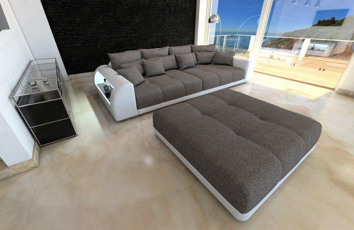 Grosses Big Sofa Miami Mit Grossen Sitzpolstern Und Led Beleuchtung