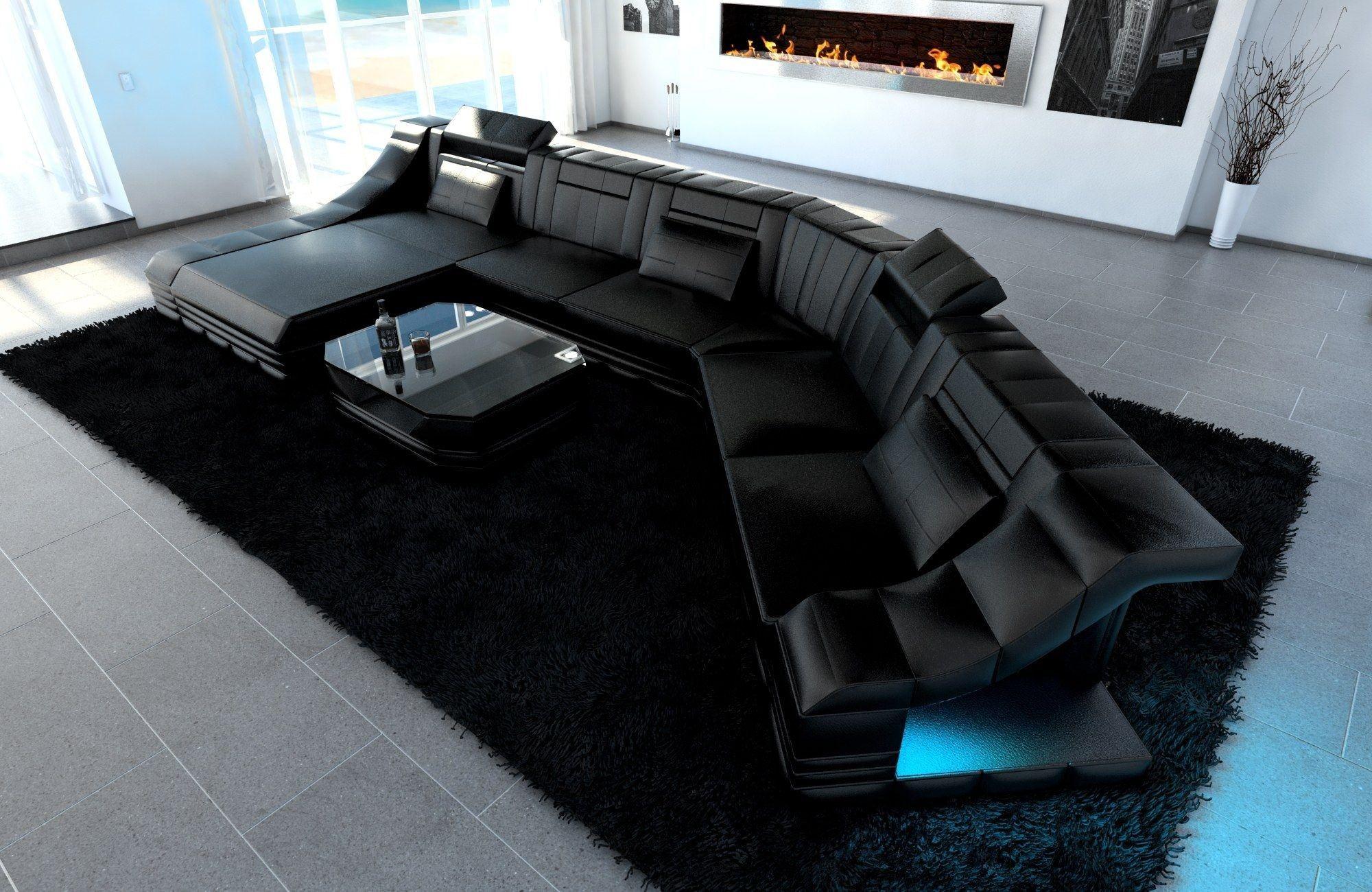 xxl wohnlandschaft turino cl form schwarz schwarz. Black Bedroom Furniture Sets. Home Design Ideas