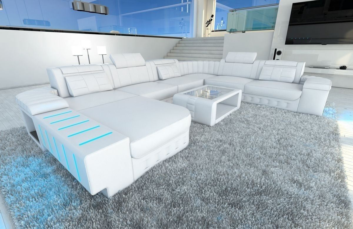 xxl wohnlandschaft bellagio in leder in den farben. Black Bedroom Furniture Sets. Home Design Ideas