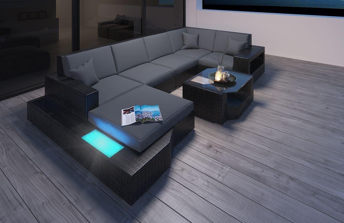 rattan sofa messana aus rattan in der u form rattan gartenm bel. Black Bedroom Furniture Sets. Home Design Ideas